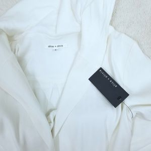 Alice and Olivia linen hooded jacket